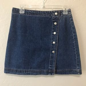 Gap Vintage Button Down Jean Skirt